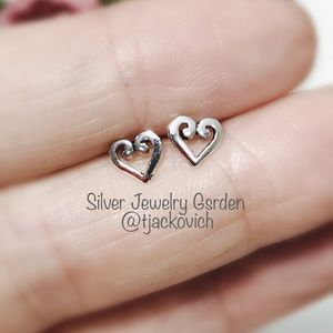 Heart Sterling Silver Stud Earrings